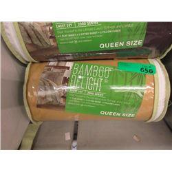 New Queen 4 Piece Bamboo Sheet Set - Gold