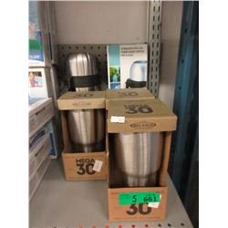 5 Piece Lot of New Stainless Steel Containers