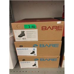 3 Pairs of Men's' New Bare Kermode Fishing Boots