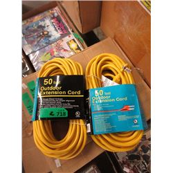 2 New 50 Foot Outdoor Extension Cords