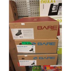 3 Pairs of Men's New Bare Kermode Fishing Boots