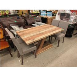 New Wood Dining Table with 4 Chairs