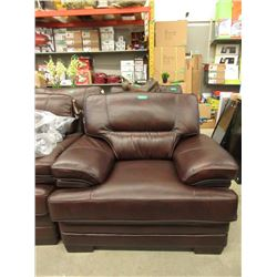 New Down Filled Brown Amax Leather Arm Chair