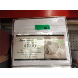 New Twin 3 Piece Polyester Sheet Set - White