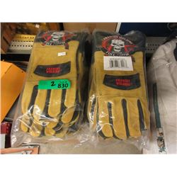 2 Packages of 12 New Pairs of Welding Gloves