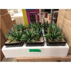 """4 Cases of 6 New 5"""" Artificial Plants"""