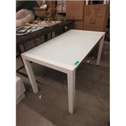 New White Condo Size Extension Table