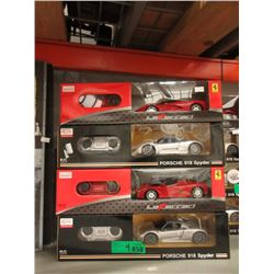 4 New 1:24 Scale R/C Sports Cars