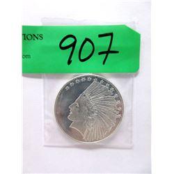 """1 Oz. .999 Fine Silver """"Indian Head"""" Round"""