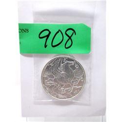 """1 Oz. .999 Fine Silver """"2013 Pegasus"""" Round"""
