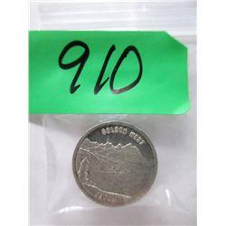 """1 Oz. .999 Fine Silver """"Golden West"""" Round"""