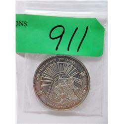 """1 Oz. .999 Fine Silver """"Mayan Design"""" Round"""