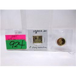2001 Canadian 3¢ Medallion Stamp Set