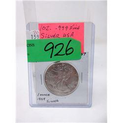 1 Ounce .999 Fine Silver 1987 Walking Liberty $1 Coin