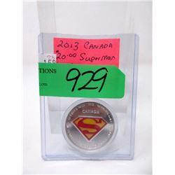 1 Oz. .9999 Fine Silver $20 Superman Coin