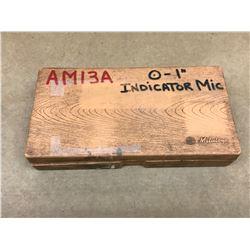 "MITUTOYO NO. 510-105 0""-1"" INDICATOR MICROMETER"