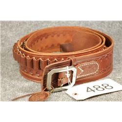 Leather Cowboy Belt w Ammo Loops