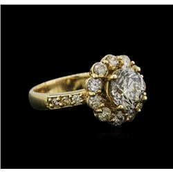 14KT Yellow Gold 2.46 ctw Diamond Ring
