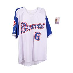 Atlanta Braves Davey Johnson Autographed  Jersey