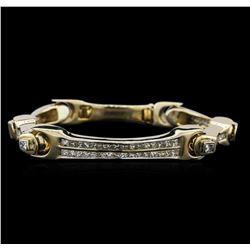 14KT Yellow Gold 6.08 ctw Diamond Bracelet