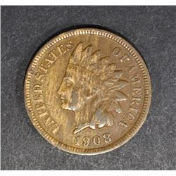 1908-S INDIAN CENT, VF
