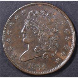 1834 HALF CENT   AU/UNC