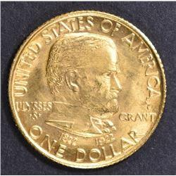 1922 $1 GOLD GRANT STAR COMMEM GEM UNC