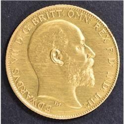 1902 BRITISH GOLD HALF SOVEREIGN  CH/GEM PROOF
