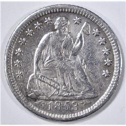 1853-O ARROWS SEATED LIBERTY HALF DIME  XF