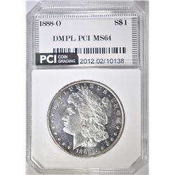 1888-O MORGAN DOLLAR  PCI DMPL CH/GEM BU