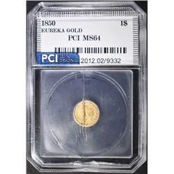 1850 EUREKA CALIFORNIA GOLD  PCI CH BU