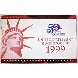 1999 US MINT SILVER PROOF SET W/COA