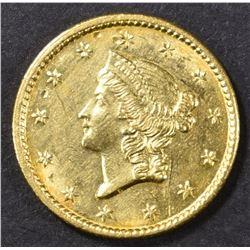 1851-C GOLD DOLLAR  AU/BU