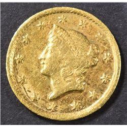1849-D GOLD DOLLAR  XF/AU