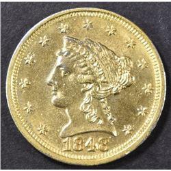 1848-D $2.5 GOLD LIBERTY  AU/BU