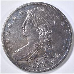 1839-O BUST HALF DOLLAR, CH AU