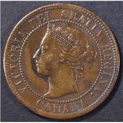 1895 ONE CENT CANADA  CH BU