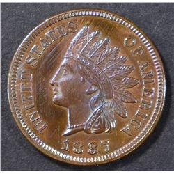 1887 INDIAN HEAD CENT  GEM BU GREAT COLOR!