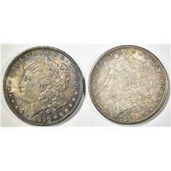 1881-S & 1896 MORGAN DOLLARS  CH BU