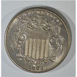 1883 SHIELD NICKEL CH BU
