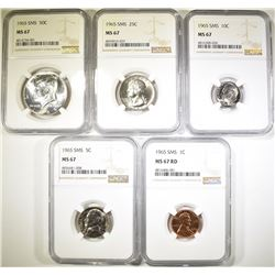1965 SMS SET GRADED NGC MS-67