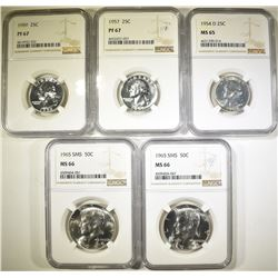 NGC GRADED COLLECTOR LOT: