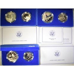 3-1986 STATUE OF LIBERTY 2-COIN COMMEM SETS