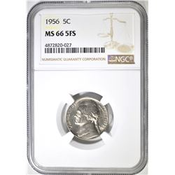 1956 JEFFERSON NICKEL NGC MS-66 5FS