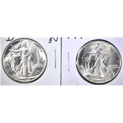 1940 & 41-D CH BU WALKING LIBERTY HALF DOLLARS
