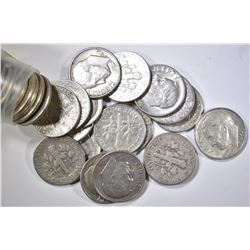 ROLL OF 50 90% SILVER DIMES