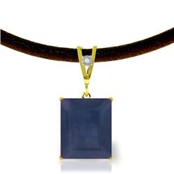 Genuine 7.01 ctw Sapphire & Diamond Necklace Jewelry 14KT Yellow Gold - REF-80Y6F