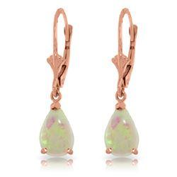 Genuine 1.55 ctw Opal Earrings Jewelry 14KT Rose Gold - REF-30Y5F