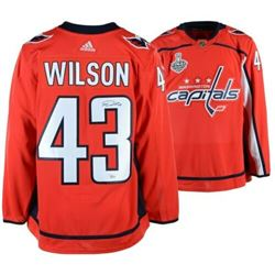 the latest 49836 58e65 Tom Wilson Signed Washington Capitals 2018 Stanley Cup ...