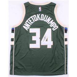 hot sale online 679e3 23aae Giannis Antetokounmpo Signed Milwaukee Bucks Authentic ...